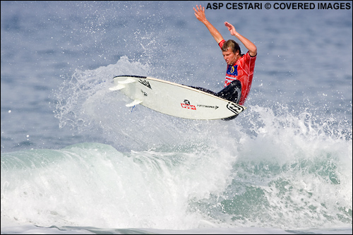 Taj Burrow Billabong Pro Mundaka Surf Contest.  Photo Credit ASP Tostee