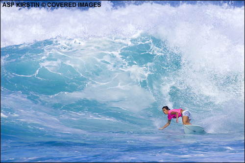 Sanantha Cornish Roxy Pro Hawaii Sunset Beach 3rd Place.  Surfing Photo Credit ASP Tostee