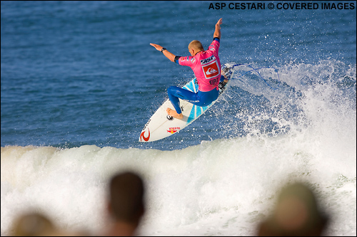 Mick Fanning Quiksilver Pro France Surf Contest.  Photo Credit ASP Media.