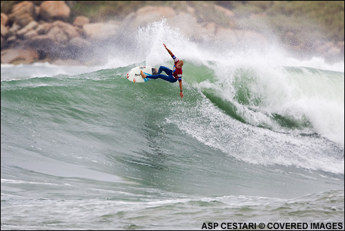 Mick Fanning Surfing Hang Loose Santa Catarina  Pro Brazil Surf Contest. Surf Photo Credit ASP Tostee