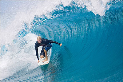 Mick Fanning Teahupoo.  Pic credit ASP Tostee