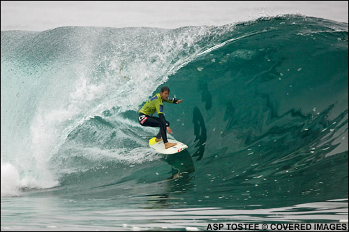 Damien Hobgood Rip Curl Pro Chile Surf Contest.  Pic credit ASP Tostee