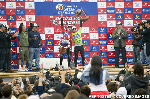 Andy Irons Winner Rip Curl Pro Search Surf Contest Arica Chile.  Pic Credit ASP Tostee