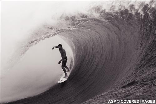 Bruce Irons looking quite at home.  Teahupoo, Tahiti.  Pic Credit ASP Tostee