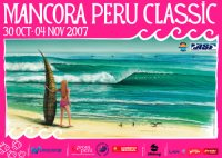 Mancora Peru Classic Surf Contest Poster