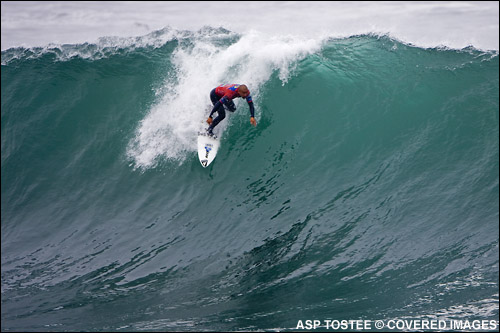 Bobby Martinez Rip Curl Pro Search Chile Surf Contest.  Pic Credit ASP Tostee