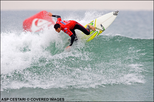 Joel Parkinson Quiksilver Pro France Surf Contest.  Photo Credit ASP Media