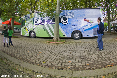 "Joel Parkinson ""Parko"" on the Billabong Bus"