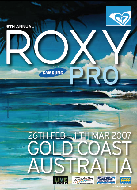 Roxy Pro Gold Coast 2007 Event Poster