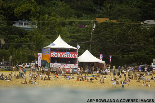 Roxy Pro Hawaii 2007 Surf Contest Site