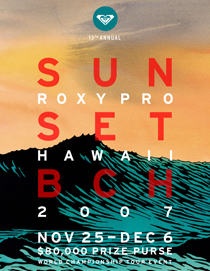 Roxy Pro Hawaii Sunset Beach Surf Contest