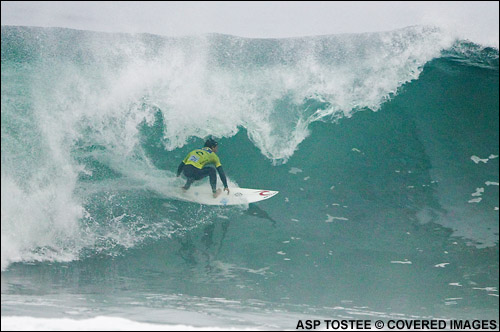 Bruno Santos Rip Curl Pro Search Surf Contest Round 2.  Pic Credit ASP Tostee