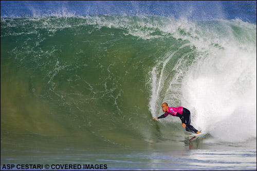 Kelly Slater Quiksilver Pro France Surf Contest.  Photo Credit ASP Media