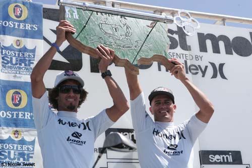 Kelly Slater and Rob Machado Trestles Surf Contest