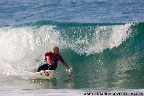 Kelly Slater Billabong Pro Mundaka Surf Contest Quater Final Win.  Photo ASP Tostee