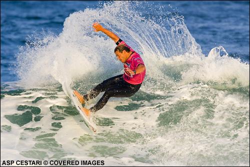 Pancho Sullivan Quiksilver Pro France Surf Contest 2007. Photo Credit ASP Media