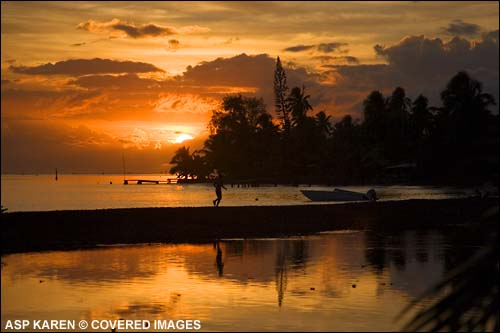 Tahitian Sunset.  Pic Credit ASP Tostee