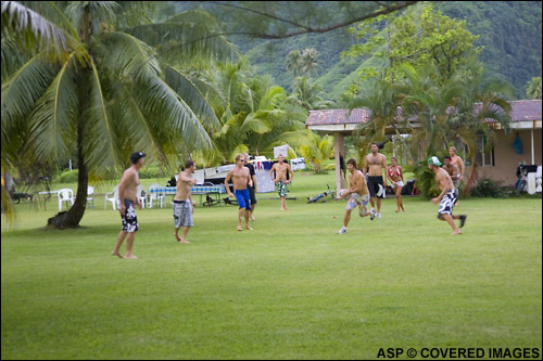 Another layday another game of footy for the Aussies. Pic Credit ASP Tostee