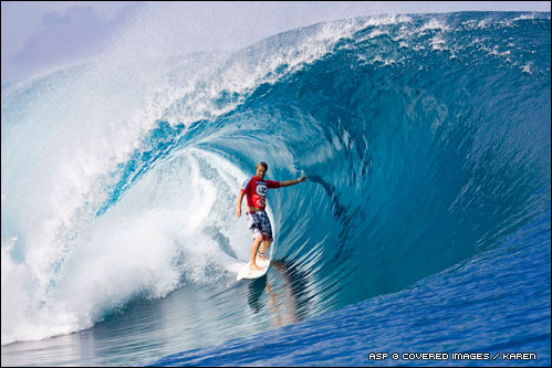 Ian Walsh Teahupoo.  Pic Credit ASP Tostee