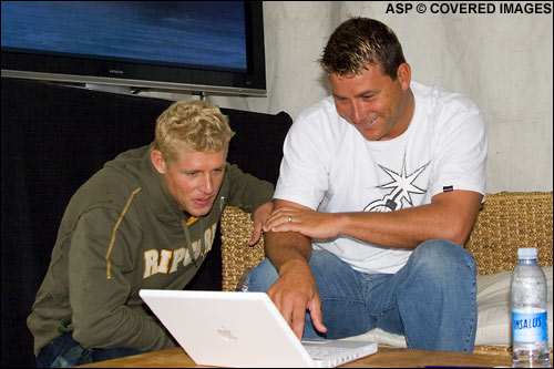 Poncho Sullivan and Mick Fanning Picture credit ASP Tostee